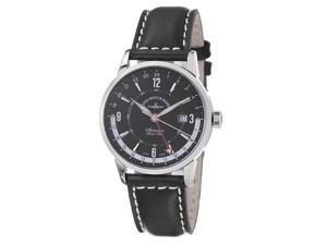 Zeno Mens Magellano Black GMT Dial Black Strap Automatic Watch