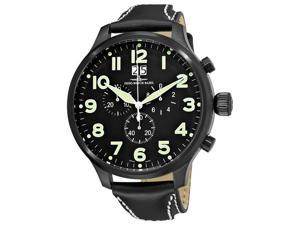 Zeno Mens Super Oversized Black Strap Quartz Chronograph Watch