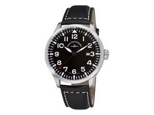 Zeno Navigator NG Mens Black Leather Strap Quartz Watch 6569-515Q-A1