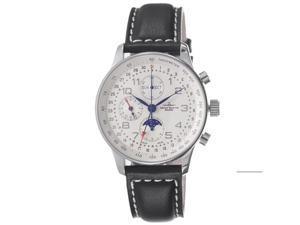 Zeno Mens Retro Black Dial Black Leather Strap Automatic Watch