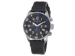Zeno Mens Divers Black Dial Black Rubber Strap Chronograph Watch 6492-5030Q-A1-4