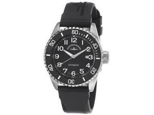 Zeno Mens Divers Black Dial Black Rubber Strap Automatic Watch 6492-2824-A1
