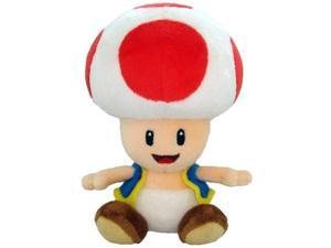 Super Mario Plush Toad Soft Stuffed Plush Toy by Sanei - 6""
