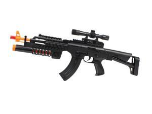 Lights and Sounds G36 w/ Scope, Grenade Launcher Toy Gun for kids Battery Operated