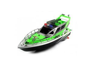 4 CH Police Airship RTR RC Boat w/ Rechargeable Batteries - Green
