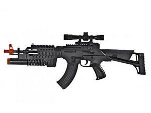 Electronic KA Combat Sniper Machine Gun/Grenade Launcher Toy Gun with sound and Lights