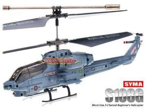 3.5ch Syma S108G Mini RC Helicopter W/ Gyro Gray Color Easy Operation Most Popular