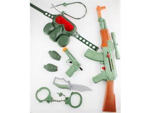 CAMO GREEN AK-47 TOY GUN SET toy guns for kids, toy gun combo set