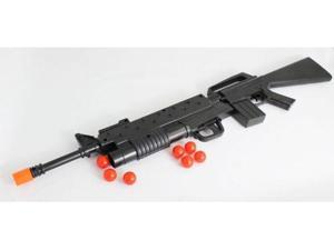 M16 Friction Toy Gun with Shooting Grenade Launcher, includes 8 little balls, 30 Inches Long toy guns for kids, toy gun