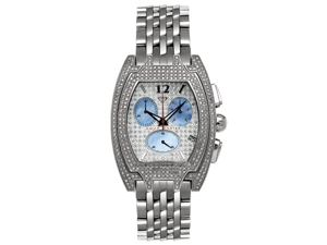 Aqua Master Men's Fancy Diamond Watch, 3.50 ctw