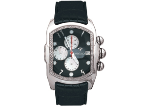 Aqua Master Men's Medium Rectangular Bubble Loop One Row Diamond Watch, 1.00 ctw