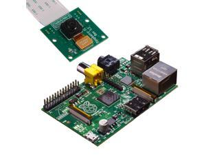 Raspberry Pi Model B Revision 2.0 (512MB) + 5MP Camera Board Module