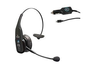 VXi BlueParrott B350-XT Bluetooth Headset Bundle with AC Power Supply and Car Charger PLUS MobileSpec Replacement Car Charger (12V)