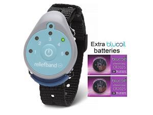 Reliefband for Motion and Morning Sickness with TWO Extra Blucoil CR2025 Batteries - VALUE BUNDLE