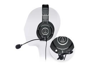 Audio-Technica ATH-M40x Professional Studio Headphone -INCLUDES- Antlion Audio ModMic Attachable Boom Microphone - Noise Cancelling w/ Mute Switch AND Blucoil Y Adapter - GAMING BUNDLE