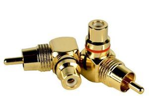 DB Link LC102 Gold RCA Right-Angle Adapters