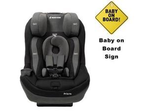 Maxi-Cosi CC034APU - Pria 70 Air Convertible Car Seat w/Baby on Board Sign (Total Black)