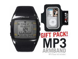 Polar 99039718 FT60 Heart Rate Monitor  Male Black with White Display with MP3 Armband