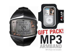 Polar 99039721 FT60  Heart Rate Monitor  Female Black with MP3 Armband