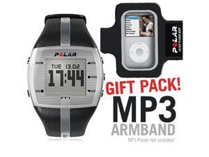 Polar 99039722 FT7M Black Silver with MP3 Armband