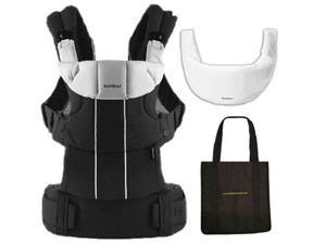 Baby Bjorn 095037US Comfort Carrier with Bib and carry Tote Bag - Black