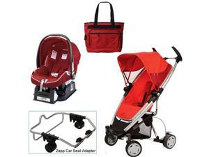 Quinny Rebel Red Zapp Xtra Travel System w Peg Perego Red Car Seat & Bag