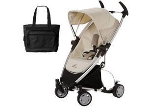 Quinny CV217BFY Zapp Xtra Folding Seat Stroller - Natural Mavis with diaper bag