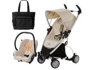 Quinny CV217BFY Zapp Xtra Folding Seat Stroller Travel system with diaper bag and car seat - Natural Mavis