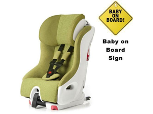 Clek FO12U1-GRW  foonf convertible seat w Baby on Board Sign - dragonfly