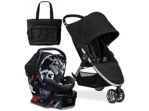 Britax 2017 B-Agile 3 B-Safe 35 Elite Travel System with Diaper Bag  - Cowmooflage