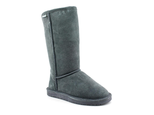 Bearpaw Emma Tall Womens Size 6 Gray Suede Winter Boots UK 4 EU 37