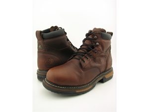 "ROCKY 5696 6"" WP Brown Boots Work Shoes Mens Size 14"
