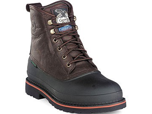 "GEORGIA G6633 6"" ST WP MudDog Brown Boots Shoes SZ 6"