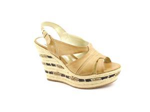Carlos Santana Monterey Womens Size 10 Nude Wedge Sandals Shoes New/Display