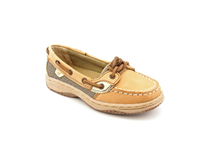 Sperry Top Sider Angelfish Toddler Girls Size 10 Beige Moc Leather Boat Shoes
