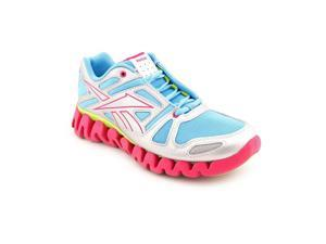 Reebok ZigDynamic Youth Girls Size 6 Silver Running Shoes UK 5.5
