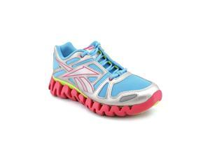Reebok ZigDynamic Youth Girls Size 5 Silver Running Shoes UK 4.5