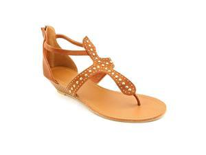 Groove Suri Womens Size 9 Tan Faux Leather Wedge Sandals Shoes