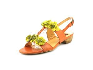 Everybody By BZ Moda Madora Womens Size 8.5 Orange Leather Dress Sandals Shoes