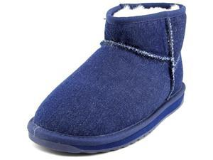 Emu Australia Stinger Denim Micro Women US 7 Blue Winter Boot