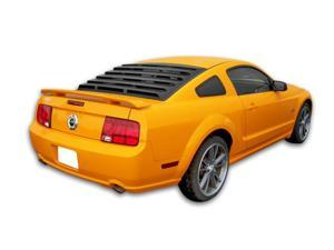 Mach-Speed 22013 Ford Mustang Coupe ABS Rear Window Louver - 2005-2012