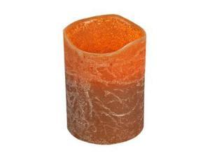 "Gerson 33091 - 4"" Brown Caramel Scent Wavy Edge LED Wax Candle Light with Timer"