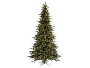 "Vickerman 22017 - 7.5' x 51"" Bayport Balsam 675 Warm White LED Lights Christmas Tree (A116576LED)"