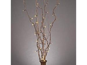 "Gerson 37905 - 39"" Natural Willow Battery Operated LED Lighted Branch with Timer (50 Warm White Lights)"