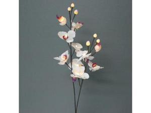 """Light Garden 00020 - 31"""" White Orchid Electric Lighted Branch (16 White Lights)"""