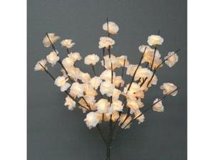 "Light Garden 00048 - 20"" Cream Mini Rose Electric Lighted Branch (60 Clear Lights)"