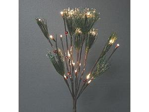 "Gerson 97464 - 39"" Frosted Nordic Pine with Red Berries Battery Operated LED Lighted Branch with Timer (30 Lights)"