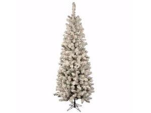 "Vickerman 17911 - 6.5' x 32"" Flocked Pacific 300 Multi-Color Lights Christmas Tree (A100367)"