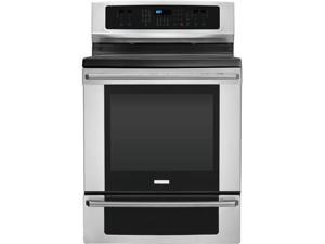 "30"" standing Smoothtop Electric Range with 5 Radiant Elements, Warming Zone, 5.8 cu. ft. True Convection Oven, No Odor Self-Clean ..."