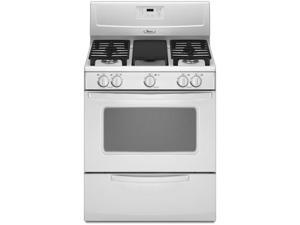 "30"" standing Gas Range with 4 Semi-Sealed Burners, Center Front Burner, Cast Iron Burner Grates, 4.4 cu. ft. Capacity Standard ..."